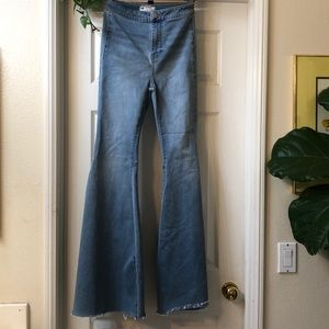 Free people super bell bottoms